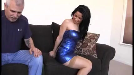 bound her blue dress Naked pornstar moving picture