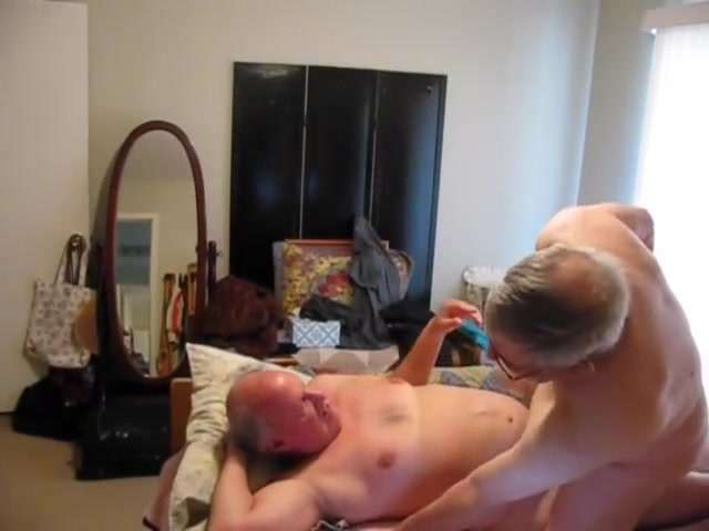 Two old guys playing in bed best penis size study