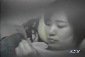 Lonely Asian babe masturbating on voyeur camera