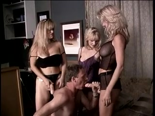 3 blondes dominate their boy lesbians suck each others pussy