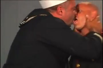 The navy way Complete dildo in ass