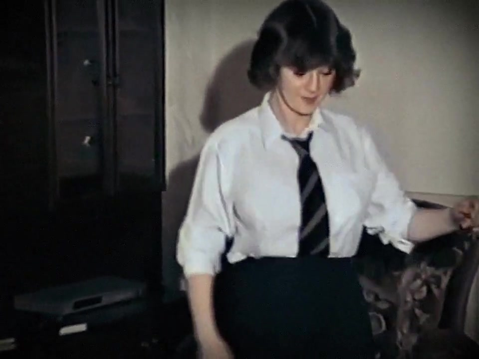 WHOLE LOTTA ROSIE - vintage big tits schoolgirl strip dance fucked in front of people