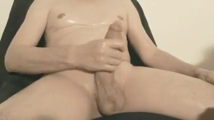 Robin jerks his shaved oiled uncut monstercock 145 photograph wife in the nude