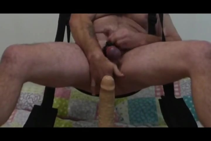 Ride my dildo on the sex swing Naked old woman fucked yong boy