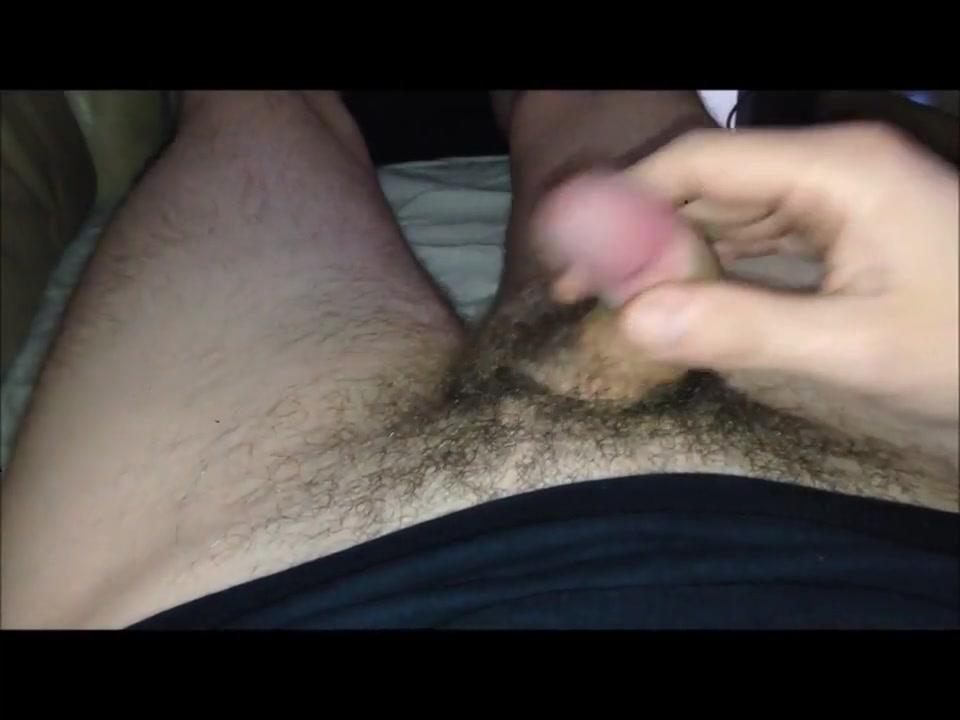 me, stroking my cock to porn Ebony asian handjob penis and interracial