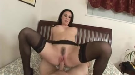 Hawt mother Id like to fuck POV Fuck in Nylons and Creampie