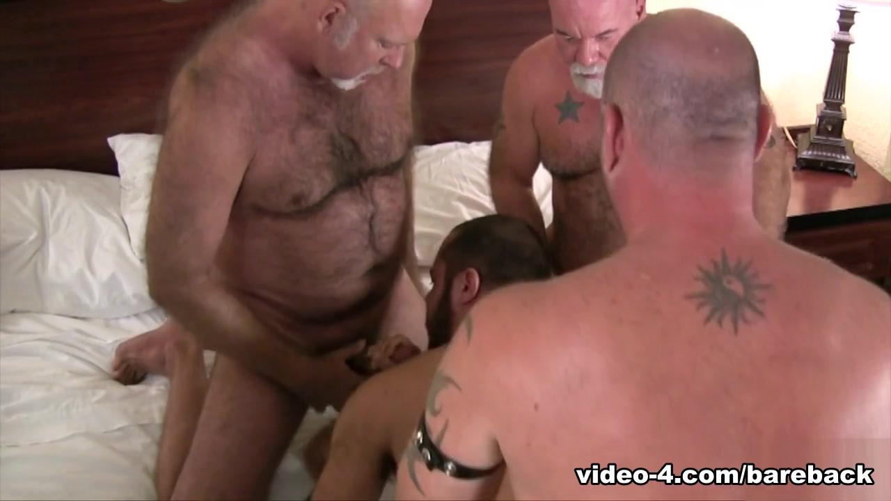 Pablo Paris Bottoms For Five Hairy Fuckers - BarebackCumPigs Granma Orgy
