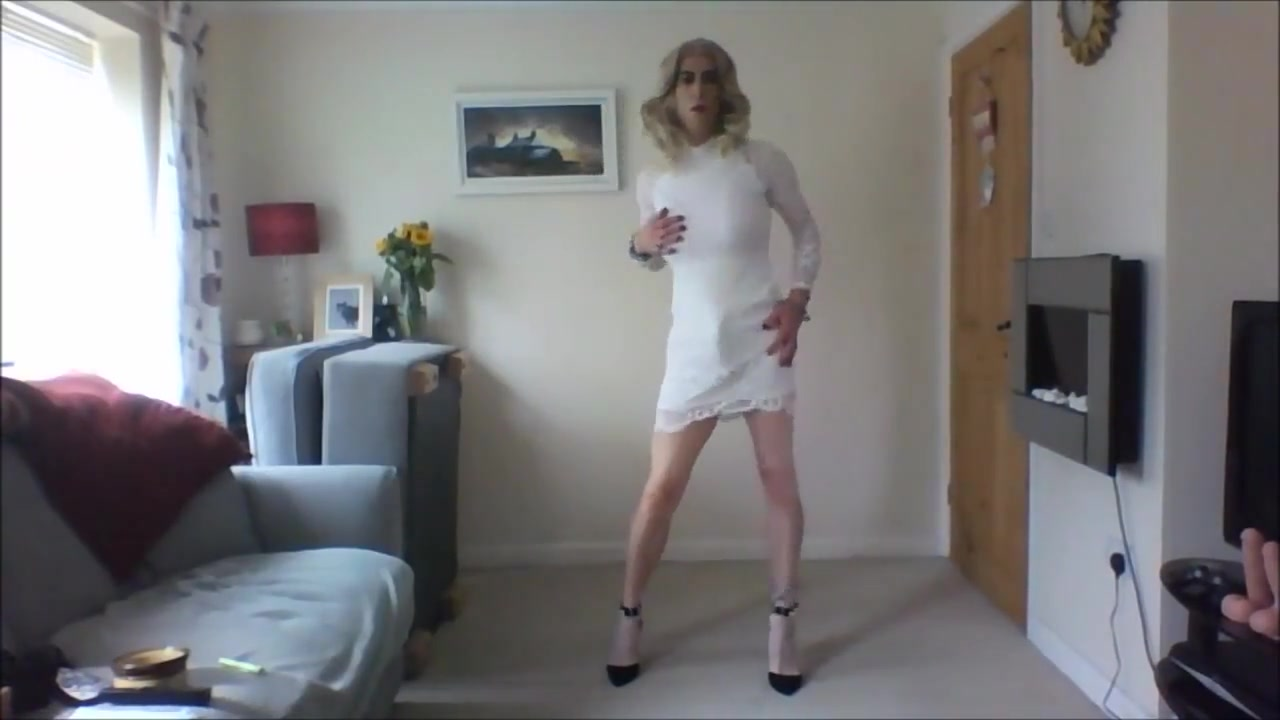 Crossdresser in white minidress Upcoming off campus drive for 2019 batch