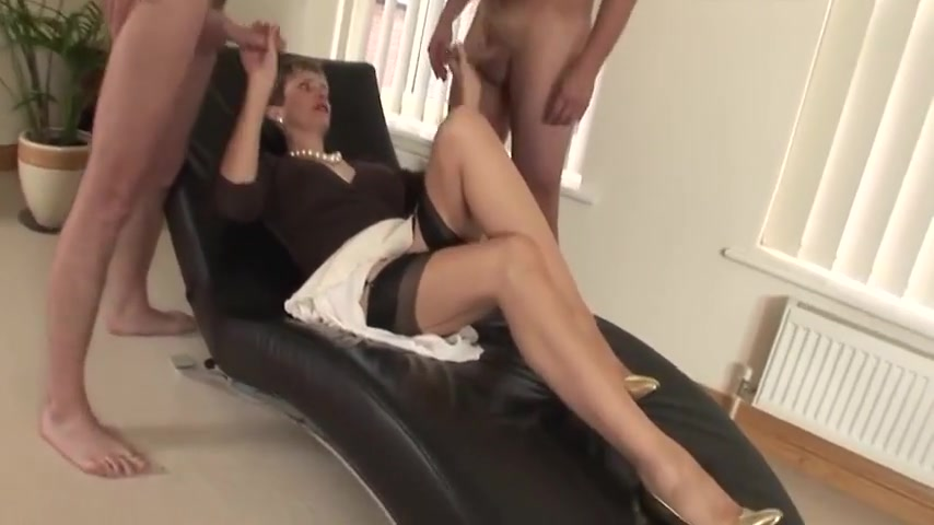 British lady and 2 guys Wife cries from a brutal ass fucking