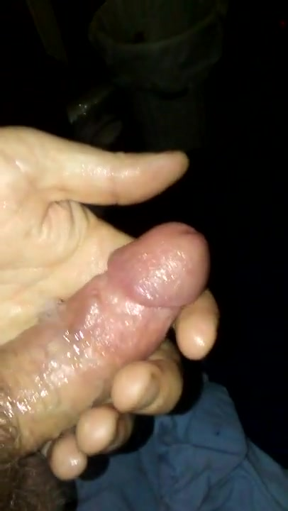 Spitting all over my cock hand to use when fisting anally
