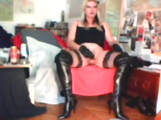 Crudelitas in black thigh boots masturbating 1 I feel so lonely nobody gets me